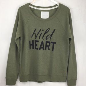 NWOT VS Olive Green Graphic Sweatshirt Oversized L